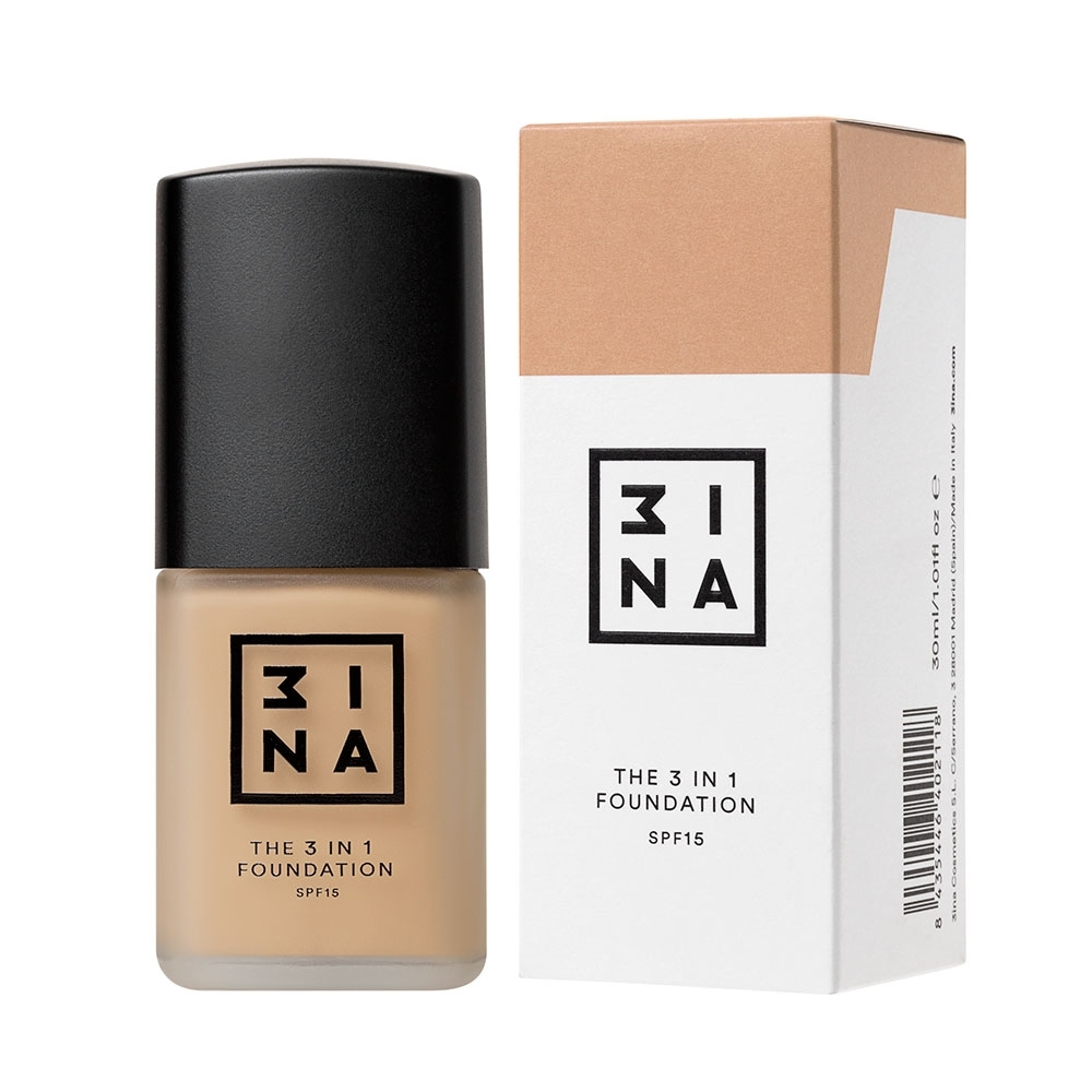 3INA Makeup | The 3in1 Foundation 204 Nude | Vegan