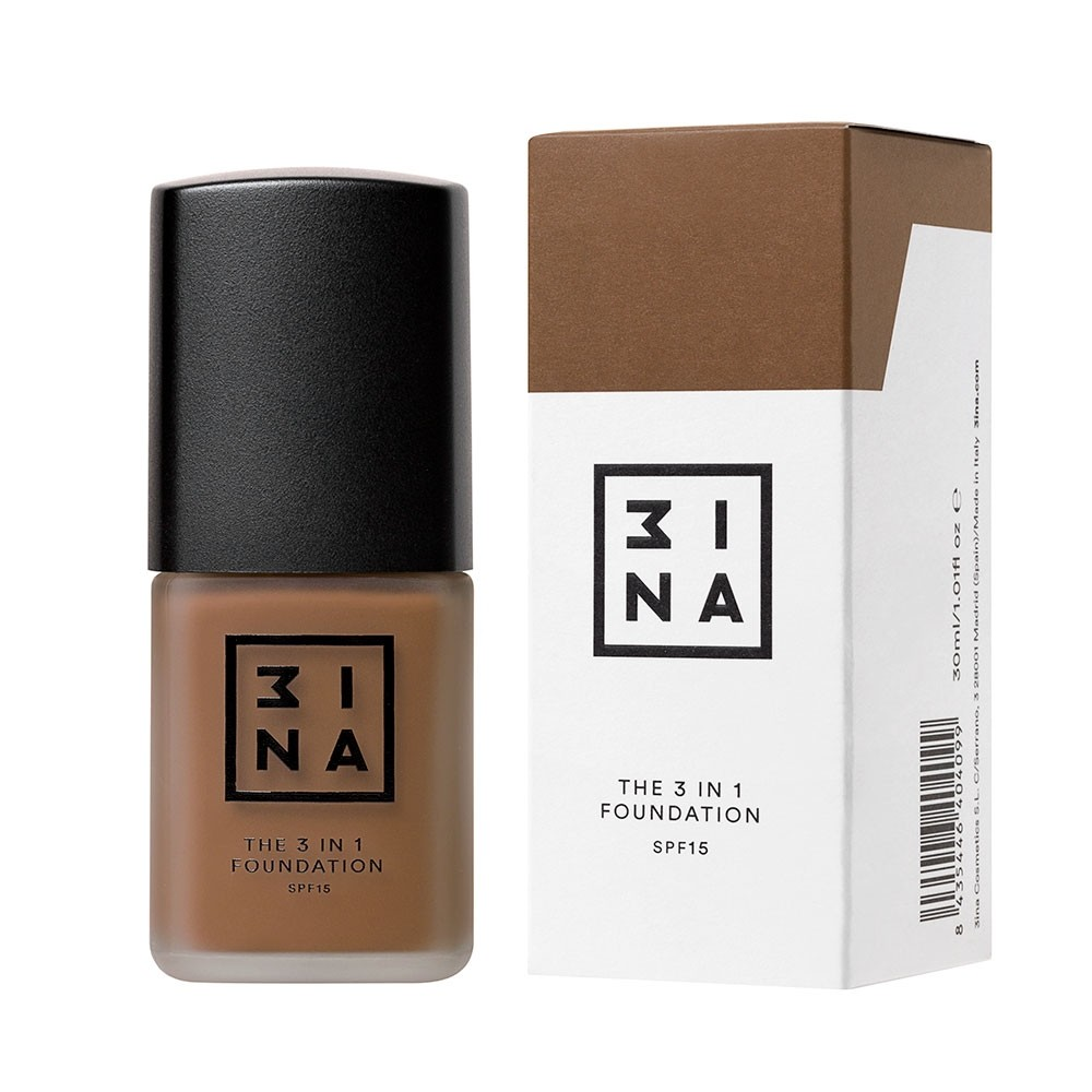 3INA Makeup | The 3in1 Foundation 223 Brown | Vegan